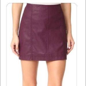 Free people prom leather miniskirt